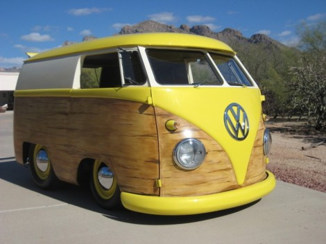 Volkswagen Bus, Volkswagen Mini, Volkswagen Mini Bus, Volkswagen modification, short bus, wood paneling