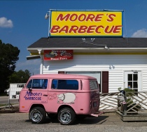 VW Mini bus, pink mini bus, moores bbq vw bus,