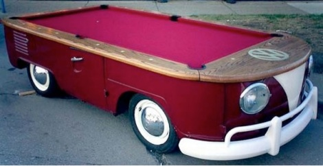 VW, VW pool table, vw furniture