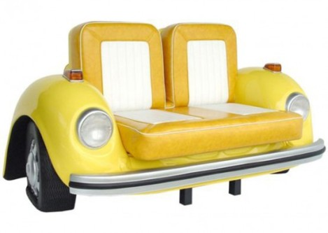 Vw Beetle, Vw sofa, yellow sofa