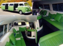 Volkswagen Bus Green Limo