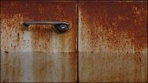 rusted, car door rusting, rusted door