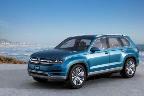 Cross Blue, VW, Suv, Concept, detroit auto show, hybrid, 7 passanger