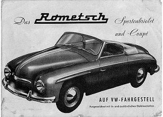 VW, Rometsch, Coupe, 1959, rare cars, rare vw, rometsch taxi, rometsch convertible