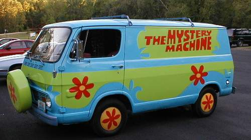 Scooby-Doo, where are you? Oh! In a Volkswagen ...