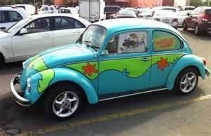 Volkswagen Beetle, Volkswagen Scooby Doo, Volkswagen mystery machine, Punch Buggy