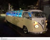 limo, volkswagen bus,