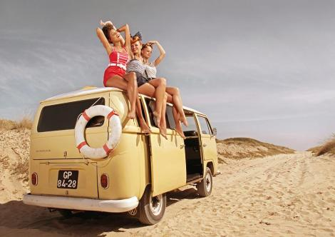Volkswagen, Bus, Pin Ups