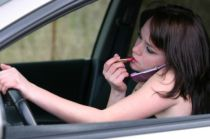 Defensive Driving, Texting, Driving, Lipstick driving, girl driving, awareness