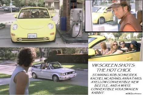 Volkswagen, beetle, convertible beetle, convertible rabbit, rabbit, rob schneider, anna farris, rachael mcadams, the hot chick, hot chick