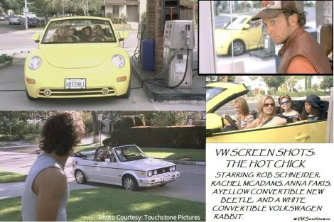 vw rob schneider, vw beetle hot chick