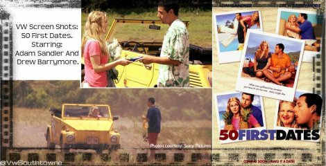 vw thing, 50 first dates, sony pictures