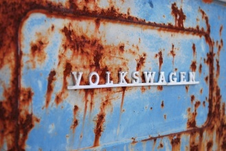 Rusted VW, VW emblem, Volkswagen