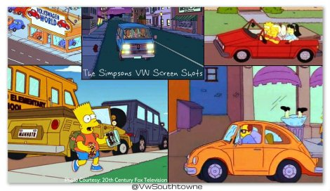 vw simpsons, volkswagens in the simpsons