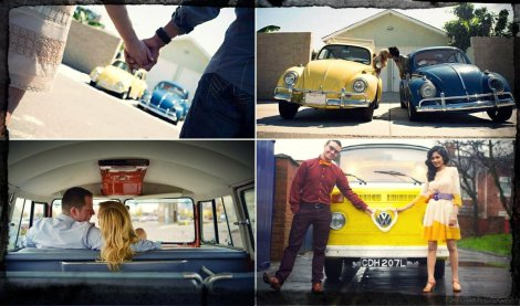 vw, volkswagen, vw engagement, volkswagen beetle, vw love, engagement pics, vw bus