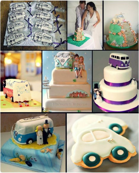 VW, Volkswagen, VW Treats, VW cakes, Volkswagen CAkes, Volkswagen Wedding, VW wedding ideas