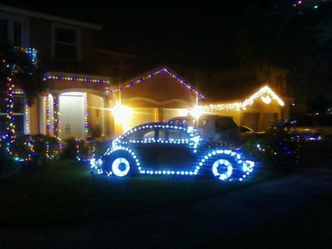 VW Beetle, Beetle Christmas, Christmas Volkswagen lights
