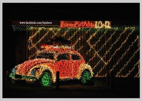 VW Beetle, Beetle Christmas, Christmas Volkswagen lights