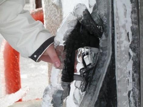 Winter Gas Pump Frozen
