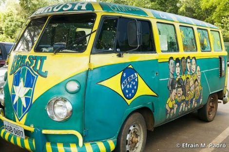 world cup, vw world cup bus, vw futbal bus, vw brazil paint job