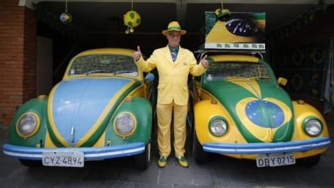 VW Brazil Beetle, VW World cup fan, vw beetle brazil paint job, vw brasil paint job beetle