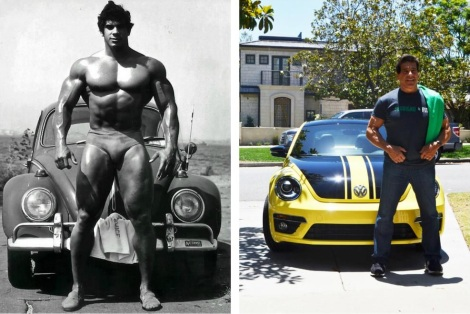 lou the hulk with VW Beetles,