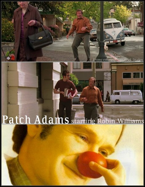 vw in the movies, vw patch adams