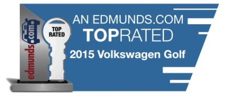 2015 vw golf top rated, 2015 golf award, vw golf awards