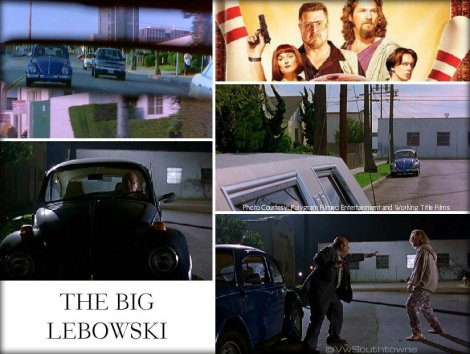 volkswagen big lebowski, vw big lebowski beetle, vw in the movies, volkswagen movies,