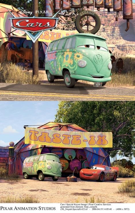 Fillmore Disney Cars Screen Shots VW Bus 1960
