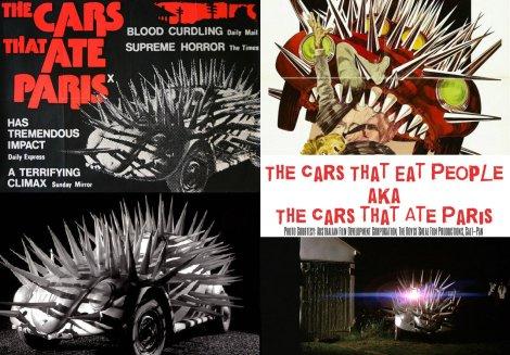 VW Beetle in cars that ate paris, vw beetle cars that eat people, vw b movie appearance