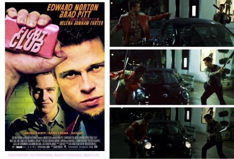vw beetle in movies, 98 beetle fight club, what beetle is in the fight club scene