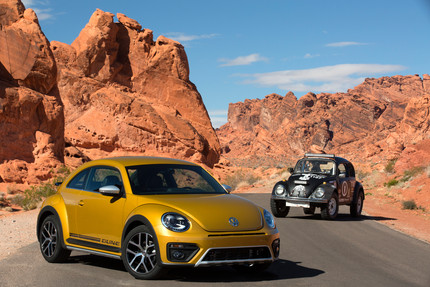 2016 Dune Beetle with old Beetle